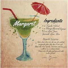 Quadro de Madeira Cocktail Margarita 40x40cm - Importado