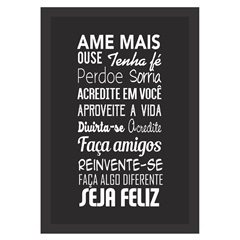 Quadro Decorativo Black & White 33x43cm - Kapos