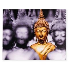Quadro Decorativo Buda 50x40cm Cinza E Dourado - Casa Etna