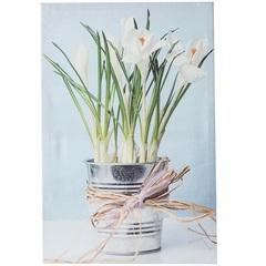 Quadro Decorativo Lírios No Vaso 40cmx60cm