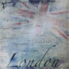 Quadro Decorativo London 50cmx50cm - Importado