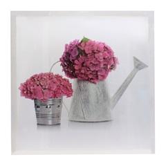 Quadro Decorativo Regador de Flores 50x50cm