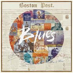 Quadro em Canvas Colagem Blues 40cm - Casa Etna