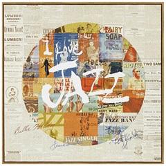 Quadro em Canvas Colagem Jazz 40cm - Casa Etna