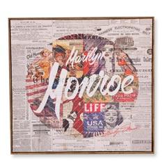 Quadro em Canvas Colagem Marilyn Monroe 70cm - Casa Etna