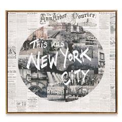 Quadro em Canvas Colagem New York 70cm - Casa Etna