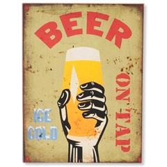 Quadro em Madeira Beer On Tap 40x30cm - Casa Etna