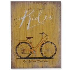 Quadro em Madeira Bicicleta 40x30cm - Casa Etna