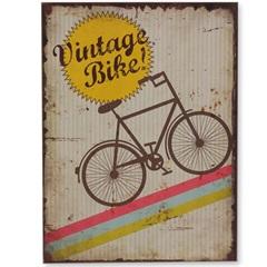 Quadro em Madeira Bike Vintage 40x30cm - Casa Etna