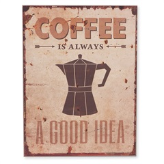 Quadro em Madeira Coffee 40x30cm - Casa Etna