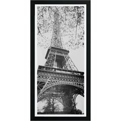 Quadro em Madeira com Vidro Cidades Torre Eiffel 27x54cm - Kapos