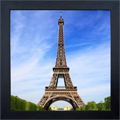 Quadro em Madeira com Vidro Torre Eiffel 27x27cm - Kapos