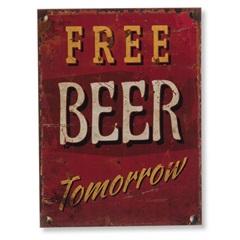 Quadro em Madeira Free Beer 40x30cm - Casa Etna