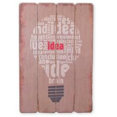 Quadro em Madeira Lâmpada 60x40cm - Casa Etna