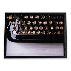 Quadro Máquina de Escrever 29x39cm - Casa Etna