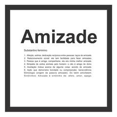 Quadro sem Vidro Amizade 27x27cm Preto - Kapos