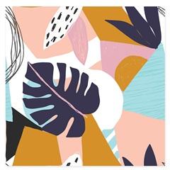 Quadro Telado Abstrato Folha Costela de Adão 40cm - Casanova
