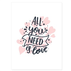 Quadro Telado All You Need Is Love 40x30cm - Casanova