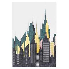 Quadro Telado Cidades Torres Linhas 60x40cm - Casanova