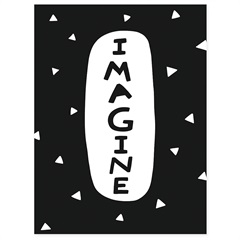Quadro Telado Imagine 40x30cm Preto E Branco - Casanova