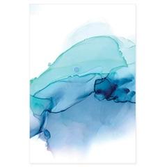 Quadro Telado Mancha Azul 90x60cm - Casanova