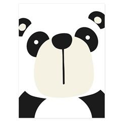 Quadro Telado Panda 40x30cm Branco E Preto - Casanova