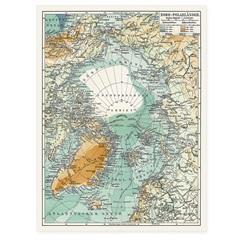 Quadro Telado Polo Norte 40x30cm Verde - Casanova