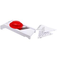 Ralador em Acrílico 5 em 1 com 30,3cm Branco E Vermelho - Casanova