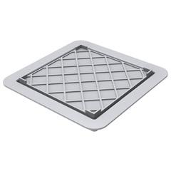 Ralo com Tampa Oculta Square Fit 15x15cm Cinza - Linear