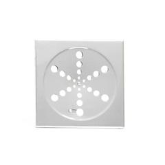 Ralo em Aço Quadrado Simples 150mm Cromado - Aminox