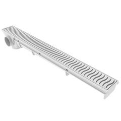 Ralo Linear 50cm - Grelha Branca - Tigre