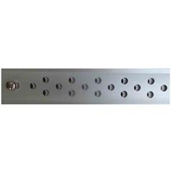 Ralo Linear em Alumínio Seca Tudo Abre E Fecha 3x50cm Cromado - Aminox