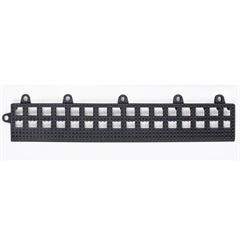Rampinha para Estrado Flexível em Pvc 30x10cm Preta com 4 Peças - Impallets