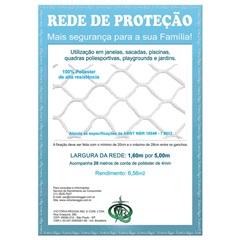 Rede de Proteção em Poliéster Protec 160cm com 5 Metros Branca - Protej