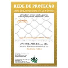 Rede de Proteção em Poliéster Protec 350cm com 5 Metros Branca - Protej