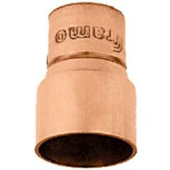 Redução em Cobre com Solda Ponta 22mm X Bolsa Interna 15mm - Ramo Conexões