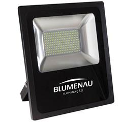 Refletor Led 100w Bivolt 6000k Slim Preto Luz Branca - Blumenau