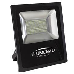 Refletor Led 200w Bivolt 6000k Slim Preto Luz Branca - Blumenau
