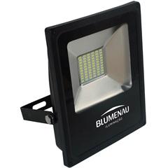 Refletor Led 30w Bivolt 3000k Slim Preto Luz Amarela - Blumenau