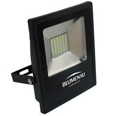 Refletor Led 30w Bivolt 6000k Slim Preto Luz Branca - Blumenau