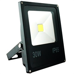 Refletor Led 30w Bivolt Slim Preto - Key West