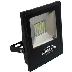 Refletor Led 30w Bivolt Slim Preto Luz Verde - Blumenau
