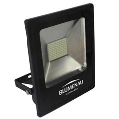 Refletor Led 50w Bivolt 6000k Slim Preto Luz Branca - Blumenau