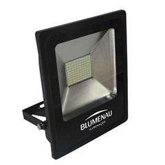 Refletor Led 50w Bivolt Slim Preto Rgb - Blumenau