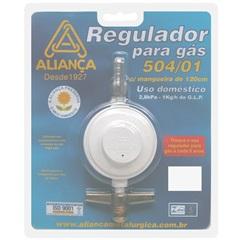 Regulador de Gás Blister 504/1 com Mangueira de 120cm Branco - Aliança