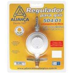 Regulador de Gás Blister 504/1 com Mangueira de 80cm Branco - Aliança