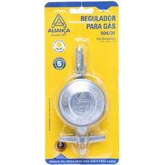 Regulador de Gás Médio Cromado - Aliança