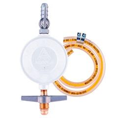 Regulador para Botijão de Gás com Mangueira 80cm Branco - Aliança