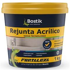 Rejunte Acrílico para Porcelanato 1kg Cinza - Fortaleza