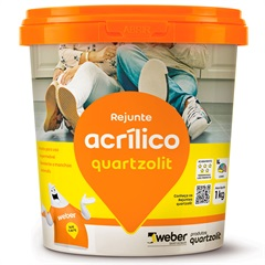 Rejunte Acrílico Preto Grafite 1kg - Quartzolit